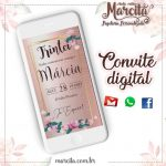 Convite Digital Trintei Gold Rose 01