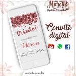 Convite Digital Trintei Gold Rose 02