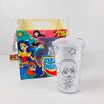 Maleta para Ovo inteiro 250gr e Copo Twister 300ml – Dc SuperHero Girls